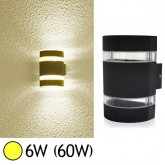 Applique murale LED COB 6W(60W) IP54 Blanc chaud Demi rond