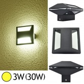 Applique murale LED COB 3W(60W) IP54 Blanc chaud Forme carrée