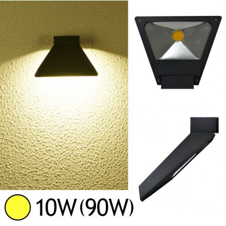 Applique murale LED COB 10W(90W) IP54 Blanc chaud Forme inclinée