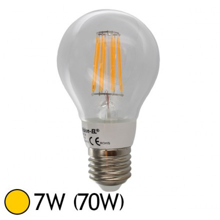 ampoule led 7w 70w cob filament e27 bulb clair blanc chaud 2700 k led et fluo. Black Bedroom Furniture Sets. Home Design Ideas