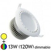 Spot LED 13W (120W) RGB+Blanc chaud Encastrable Pilotable par WIFI