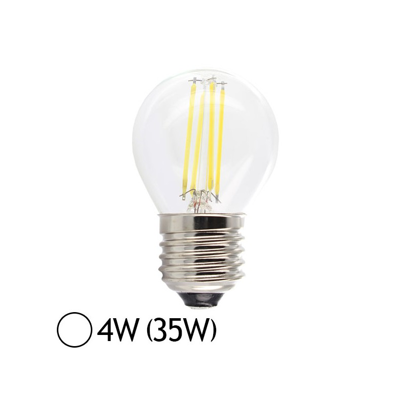 ampoule led 4w 35w e27 filament bulb claire blanc jour led et fluo. Black Bedroom Furniture Sets. Home Design Ideas