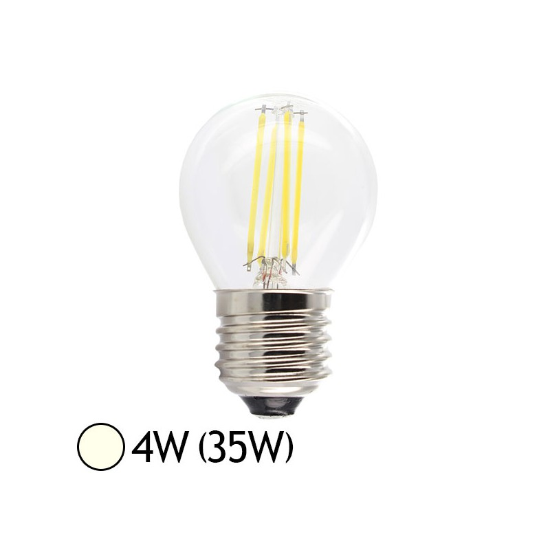 ampoule led 4w 35w e27 filament bulb claire blanc jour 4000 k led et fluo. Black Bedroom Furniture Sets. Home Design Ideas