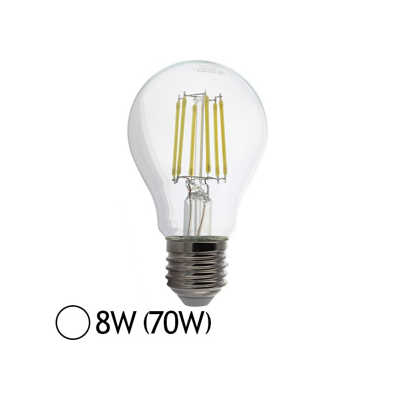 ampoule led 8w 70w e27 filament bulb claire blanc jour led et fluo. Black Bedroom Furniture Sets. Home Design Ideas