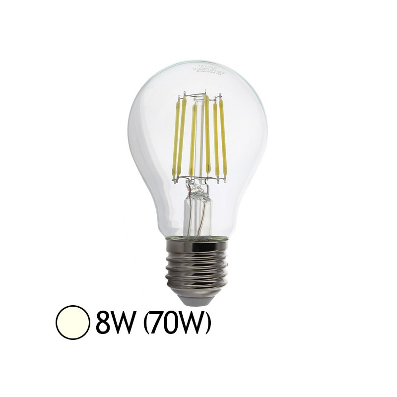 ampoule led 8w 70w e27 filament bulb claire blanc jour. Black Bedroom Furniture Sets. Home Design Ideas