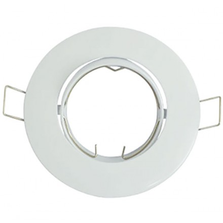 Support Spot LED Orientable Rond D92 Blanc