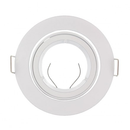 Support Spot LED Orientable Rond D93 Blanc