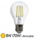 Ampoule Led 8W (70W) E27 Dimmable Filament Bulb claire Blanc chaud 2700°K