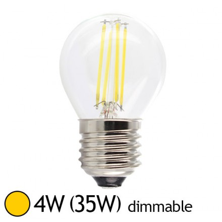 Filament 4w35wE27 Ampoule Chaud Led Bulb Claire Blanc Dimmable xCreQBWEdo