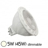 Spot Led 5W (45W) GU5.3 12V Dimmable Angle 38° Blanc jour 4000°K