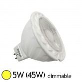 Spot Led 5W (45W) GU5.3 12V Dimmable Angle 38° Blanc chaud 3000°K