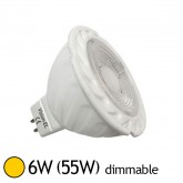 Spot Led 6W (55W) GU5.3 12V Dimmable Angle 38° Blanc chaud 2800°K