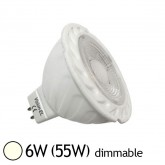 Spot Led 6W (55W) GU5.3 12V Dimmable Angle 38° Blanc jour 4000°K
