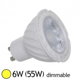 Spot Led 6W (55W) GU10 Dimmable Angle 38° Blanc chaud 3000°K