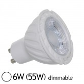Spot Led 6W (55W) GU10 Dimmable Angle 38° Blanc jour 6000°K