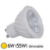Spot Led 6W (55W) GU10 Dimmable Angle 38° Blanc chaud 2700°K