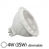 Spot Led 4W (35W) GU5.3 12V Dimmable Angle 38° Blanc jour 6000°K