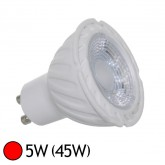 Spot Led 5W (45W) GU10 Angle 38° Eclairage rouge