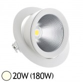 Spot Led escargot COB 20W (180W) encastrable orientable Blanc jour 4000°K