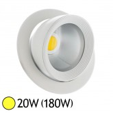 Spot Led escargot COB 20W (180W) encastrable orientable Blanc chaud 3000°K