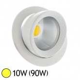 Spot Led escargot COB 10W (90W) encastrable orientable Blanc chaud 3000°K