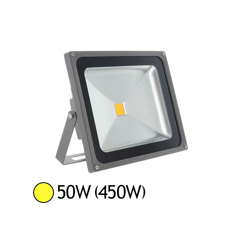 Projecteur led 50w 450w ext rieur ip65 blanc chaud led et fluo - Projecteur led 50w ...