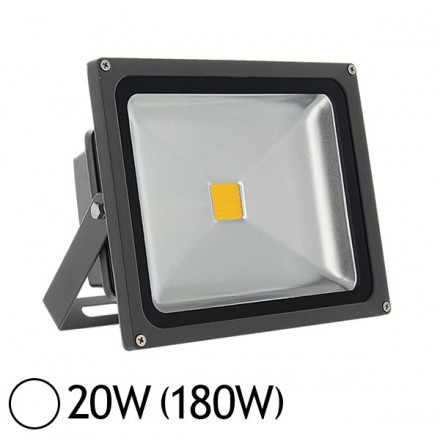 Projecteur led 20w 180w ext rieur blanc jour led et fluo for Projecteur led exterieur 20w