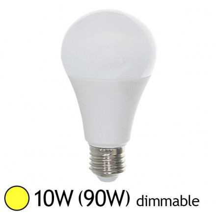 Led 10W (90W) Dimmable E27 Blanc chaud