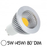 Spot Led 5W (45W) dimmable GU10 Blanc jour