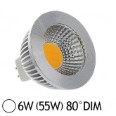 Spot Led 6W (55W) dimmable GU5.3 12V Blanc jour