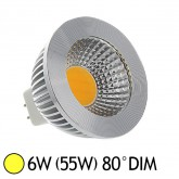Spot Led 6W (55W) dimmable GU5.3 12V Blanc chaud