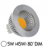 Spot Led 5W (45W) dimmable GU5.3 12V Blanc jour