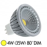 Spot Led 4W (35W) dimmable GU5.3 12V Blanc chaud