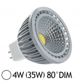 Spot Led 4W (35W) dimmable GU5.3 12V Blanc jour