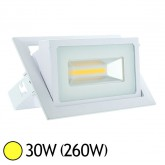 Spot Led COB 30W (260W) encastrable orientable Blanc chaud