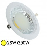Spot Downlight LED 28W (250W)) encastrable D225 Blanc chaud