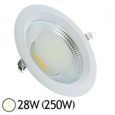 Spot Downlight LED 28W (250W) encastrable D225 Blanc jour 4000°K