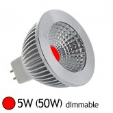 Spot Led 5W (50W) dimmable GU5.3 12V Lumière rouge