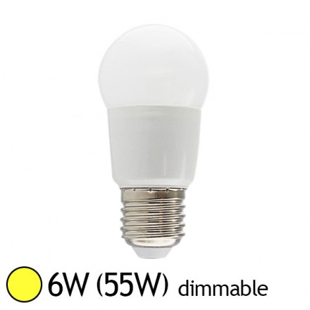 Ampoule led 6w 55w dimmable e27 blanc chaud led et fluo - Ampoule led dimmable ...