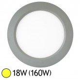 Plafonnier LED 18W (160W) Encastrable ALU D235 Blanc chaud