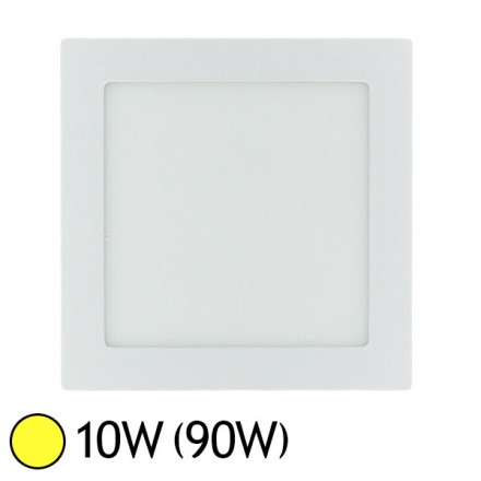 Plafonnier LED 10W (90W) encastrable 145x145 Blanc chaud