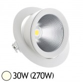 Spot Led escargot COB 30W (270W) encastrable orientable Blanc jour 4000°K