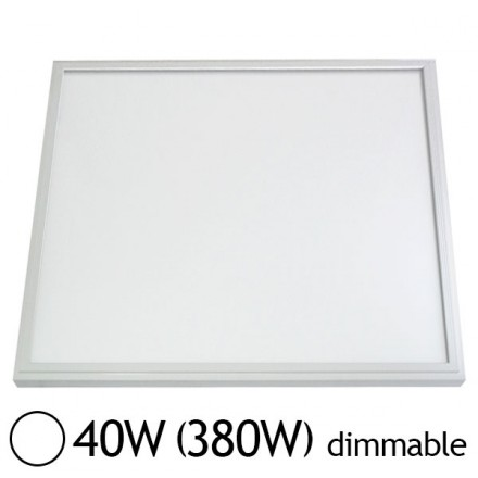 Dalle LED 40W (380W) 600x600 Dimmable DALI Blanc jour 6000°K