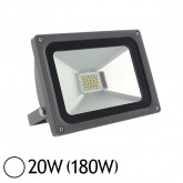 Projecteur ext LED SMD 20W (180W) IP65 Anthracite Blanc jour 6000°K