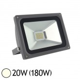 Projecteur ext LED SMD 20W (180W) IP65 Anthracite Blanc jour 4000°K
