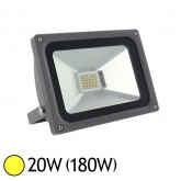 Projecteur ext LED SMD 20W (180W) IP65 Anthracite Blanc chaud 3000°K