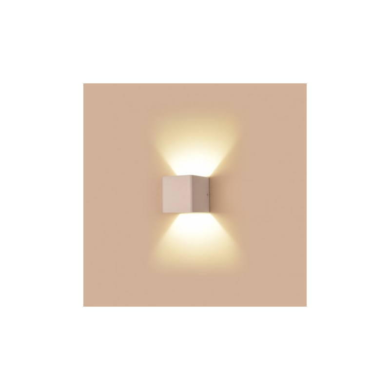 Applique murale int rieure led 6w 55w forme cube blanc for Applique murale interieure