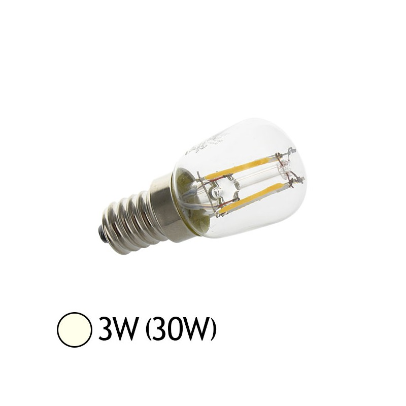 ampoule led 3w 30w e14 filament cob sp cial frigo hotte blanc jour 4000 k led et fluo. Black Bedroom Furniture Sets. Home Design Ideas