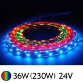 Bandeau LED 36W (230W) 24V IP65 (Epoxy) RGB (multi couleurs)