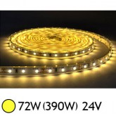 Bandeau LED 72W (390W) 24V IP65 (Epoxy) Blanc chaud 3000°K